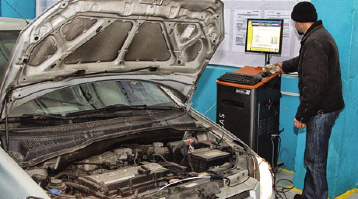 Проведение технического осмотра автомобиля