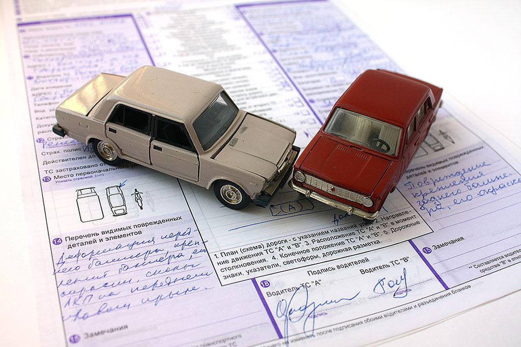 Оформление извещения о ДТП для страховой
