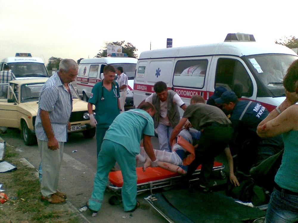 Оказание медицинской помощи пострадавшему в ДТП