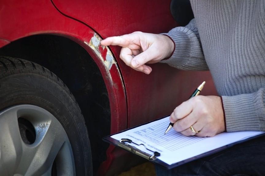 Фиксация повреждений автомобиля