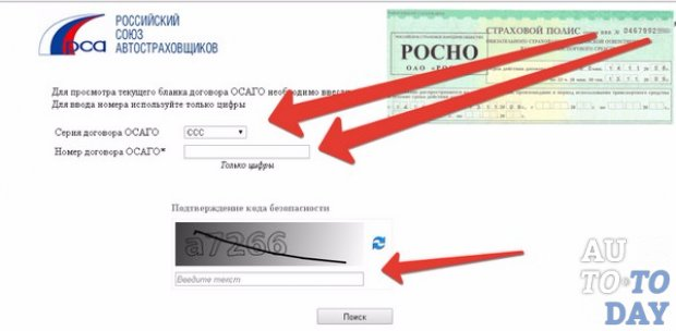 Проверка полисов ОСАГО на сайте РСА
