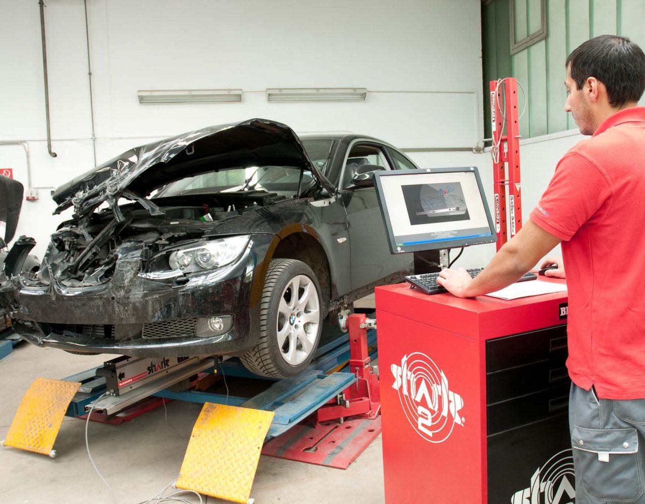 Диагностика повреждений автомобиля на станции технического обслуживания