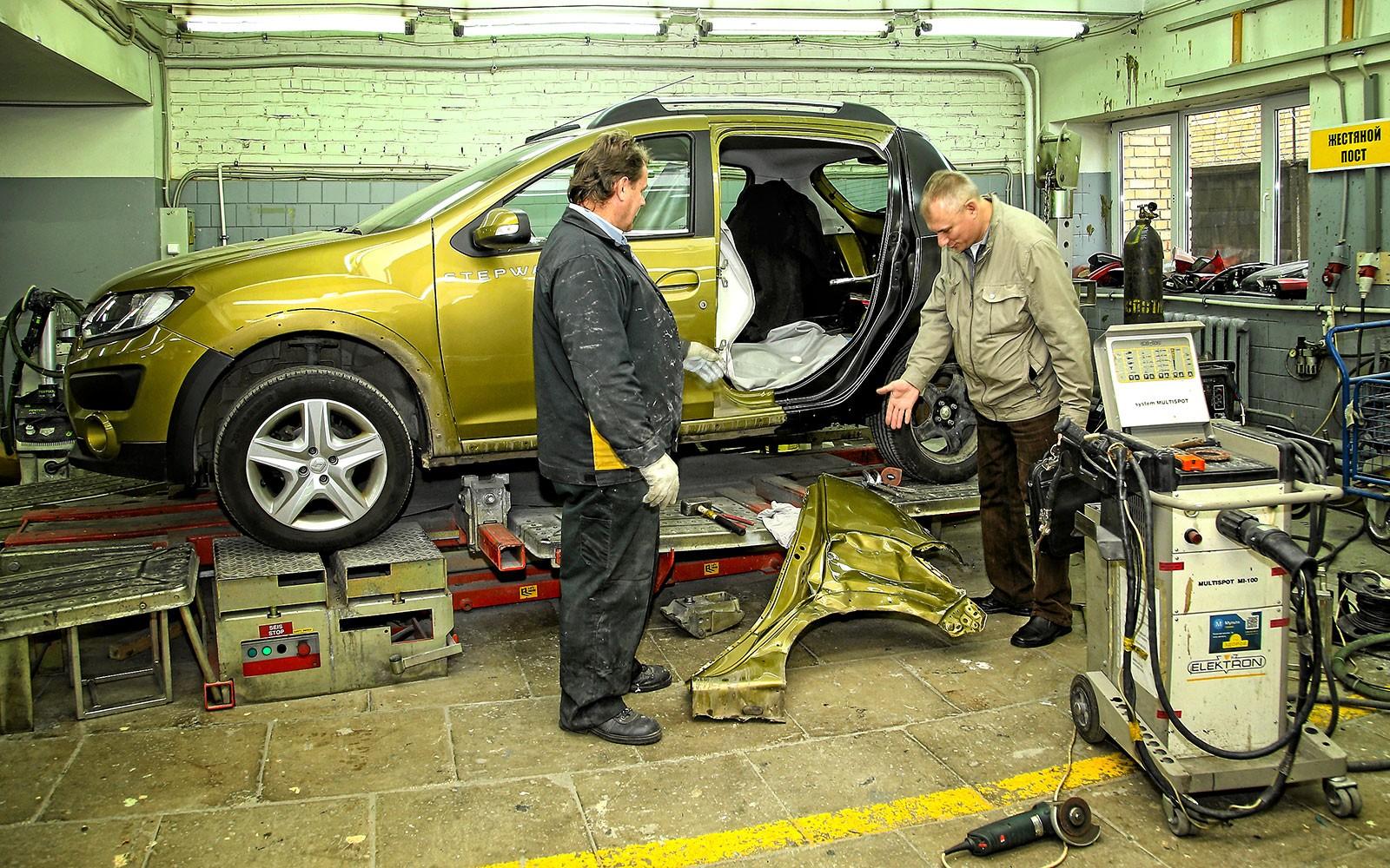 Кузовной ремонт в автомастерской