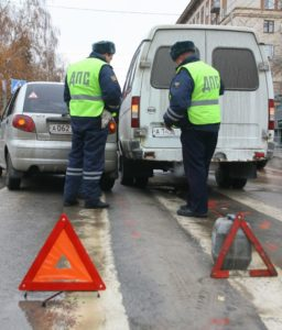 Фиксация повреждений на авто сотрудниками ДПС