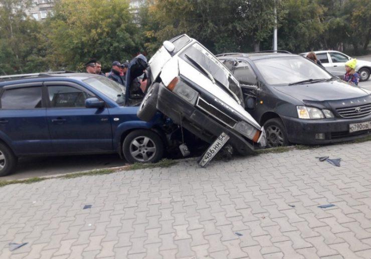 Несколько участников аварии